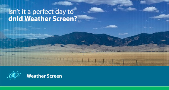 Download Weather Screen -- it's fast, free and painless
